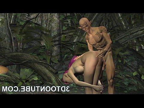 бабе в лесу накончал парень в пизду